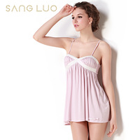 Nightgown new arrival female mulberry silk lounge 14 - 107 racerback sexy spaghetti strap sleepwear female silk