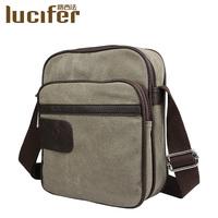 Trend canvas handbag shoulder bag men messenger bags casual male small bags student school laptop bags free shipping