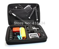 Hot New Portable EVA Travel Case Carrying Storage camera Bag For GoPro Hero 1 2 3 3+ Size M EVA Carry Hard Case 20pcs/lot