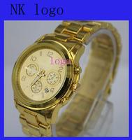 2014 100% top quality New Classic Gold Rose Gold Stainless Steel Women's Ladies' Girls' Analog Quartz Wrist Watch Original Logo