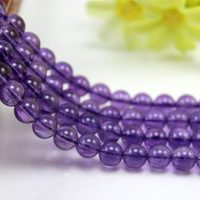Grade AAAAA Natural Amethyst, Purple Crystal Beads Scattered Beads, Bracelets Necklaces Materials,6-12mm A Bead,39-40cm Long
