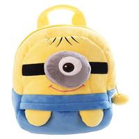 2014 Boys and Girls Thief Daddy little yellow man cartoon plush kids backpack schoolbag