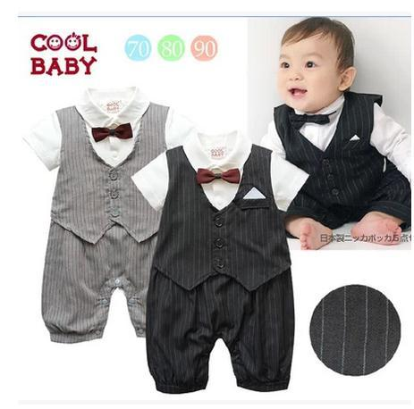 EX1195 Baby Boy Clothes Special Christmas Christening Formal Tuxedo Boys Romper Suit retail(China (Mainland))