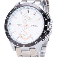 Recommend The Latest Hot Fashion Brand Men Business Leisure Suppliers Luxury Waterproof Steel Quartz Watch LONGBO