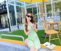 Qct 2014 summer women's plus size slim short  fresh sleeveless one-piece dress