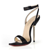 NEW 5 color silk sexy ankle strap  black high heel sandals, heel height 12cm, dance / club / wedding women pumps sandals shoes
