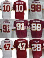 wholesale Cheap American Football Jerseys,10 GRIFFINIII 91 KERRIGAN 98 ORAKPO 47 COOLEY 28 GREEN  men elite Jerseys good quality