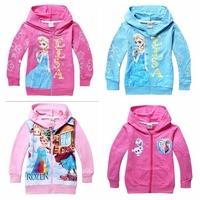 Wholesale 2014 Spring Autumn Children Outerwear baby girls Frozen Princess hoodie jackets Kids cartoon sweatshirts 1pcs/lot