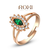 ROXI exquisite rose-golden green eyes ring,factory price,fashion jewelrys,high quality,newest arrival,Christmas gifts,2010274230