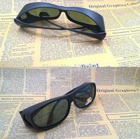 New Classic Fit Over Most Glasses Sunglasses  UV 400 Polarized Smoke Lenses  Matte Black  Frame