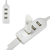 HOT! New High Speed 4 Port USB HUB with Cable 480Mbps Computer Peripheral Free Shipping