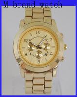 2014 top quality Famous Brand Luxury Diamond Gold Rose Gold Steel Quartz Wrist Watch for Women Ladies /w Brand Logo FreeShipping