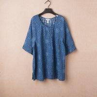 3XL - 8XL  Retro Print Blouse Casual Women Tee T-shirt Top Oversize Plus Big Large Size XXXXL XXXXXL 4XL 5XL 6XL 2014 Summer
