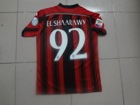 2015 ac milan  jersey  home with Brand Logos premier league football soccer jersey  Thai quality aaa,Mixed order.