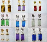 free shipping 9sets Multicolor Jade Gemstone Earring fashion jewelry