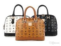 PU Leisure fashion retro shells handbag splicing mc printed bags 019