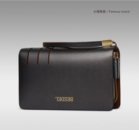 The new 2014, han edition men's leather hand bag, large capacity business package, 8007.