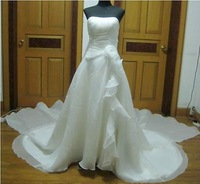 Tailor Made Quality Chiffon Ruffles Bridal Wedding Gown Formal Dress - Plus Size