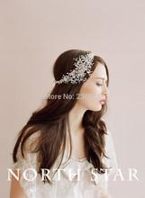 New Come Design Bridal Wedding Wear Accessories Shining Crystal Beaded Tire Around Head Beautiful Mantilha Headwear 2014(China (Mainland))