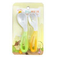OVO  2pcs Infants bent spoon  Feeding supplies Soft head Baby KD4029 Newborn tableware Spoon bending