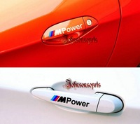 New arrival M Power Door Handle Car stickers  waterproof sticker sunscreen M3 M5 car stickers 1set=4pcs