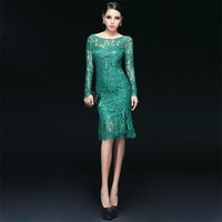 Free shipping 100% New Lace Fashion sexy Full Backless A-Line Knee-Length Prom Evening Dresses