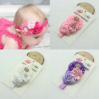 Newborn Bebe Baby Girls Kids Children Infantil Toddler Flower Rhinestone Headbands Headwear Hair Bow Accessories Photoshoot Prop