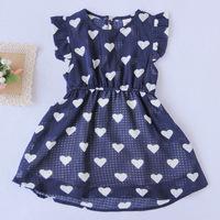 Hot Sale 2014 Summer New Children Clothing Baby Girls Clothes Girl Dress Kids Tutu Dress child Children Dress  Girls Love dress