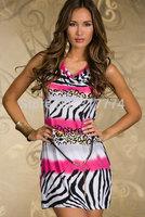 Wholesale Free Shipping Women Sexy Dress Party Dress Clubwear  orange  pink blue  color N124