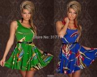 Wholesale Free Shipping Women Sexy Dress Party Dress Clubwear  green blue N128