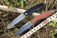 MG Chris Reeve Mnandi Folding Knife D2 High Speed Steel Sanding Blade TC4+wood handle Gentleman Pocket knife Free Shipping