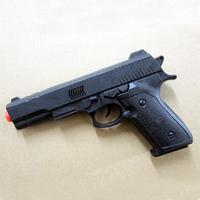 Toy pistol 20cm black flint gun cosplay