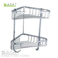 free shipping high quality stainless double triangle bathroom storage shelf xdl-1332