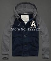 Free shipping fashion hot brand men's hooded sweater men Men's hoodie jacket coat cotton hooded sweater
