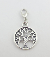 2014 Hot Sell  TREE  Dangle for Floating Charm Living Locket Chains & Charm pendant & Bracelets  e767 (Minimum order $10)