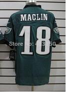 Buy Cheap Philadelphia #18 Jeremy Maclin Embriodery Men Jersey American Football Green Elite Shirt New Arrival 2014