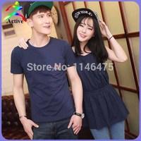 Продажа любовник пара Одежда летняя мода 2piece наборы хлопок футболки для любителей пляжа Барс печать Корейский пара рубашки