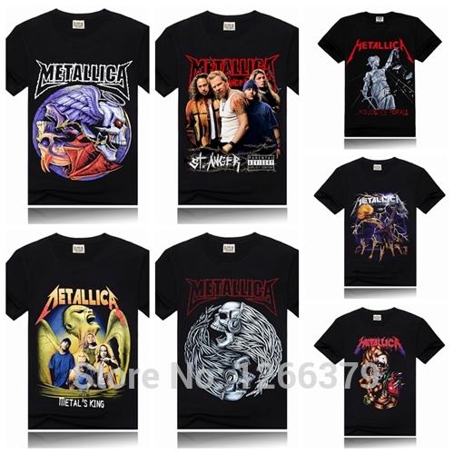 Metallica Printing New Men T-shirt Rock Band More Colors camisa Fashion Sports T-shirt sportwear Black Size S-3XL(China (Mainland))