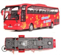 5 doors bus toys children best gift car models 1:50 large sightseeing bus alloy car school bus model
