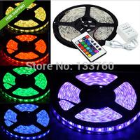 NEW 5M Waterproof 5050 RGB SMD LED Strip New Flex Light 300LED 60LED/meter + 24key FREESHIPPING