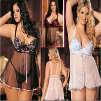 3 Colors Sexy Lingerie Plus Size Fantasias Eroticas Pajamas for Women Langerie Baby Doll