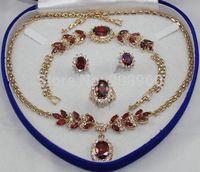 Hot Sale Bridal Fashion Jewellery Women's Set Zirconia Necklace Earring Ring   fashion jewelry