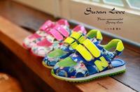2014new child girl flower sandals children girls flower shoes