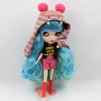 Free Shipping hot sale TB-340  Nude Blythe doll lovely DIY toy birthday gift for girls fashion 4  big eyes dolls beautiful Hair