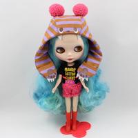 Free Shipping hot sale TB-339  Nude Blythe doll lovely DIY toy birthday gift for girls fashion 4  big eyes dolls beautiful Hair