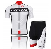 Cer velo  team 2014 Cycling Jersey + Short Set Cycle Wear Bike clothes Bicycle Short 3D Wear Summer Sport
