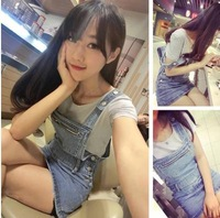 Spring new Korean version was thin denim skirts strap
