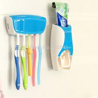Free Shipping Dispenser toothpaste device belt toothbrush holder multifunctional toothbrush holder set dental frame 34114