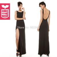 summer fashion slim racerback gauze patchwork placketing female sexy full dress one-piece dress hyd