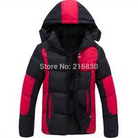 2014 Men's Nika Brand Winter Hooed Jackets Men's 100% Cotton Padded Down Coat Outdoor Sportswear Casual Man Hoody Jackets